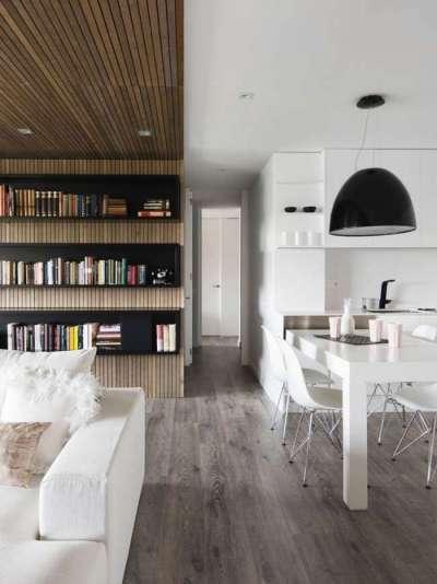 зонирование мебелью кухни гостиной