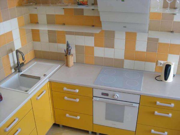 кухня своими руками жёлтого цвета
