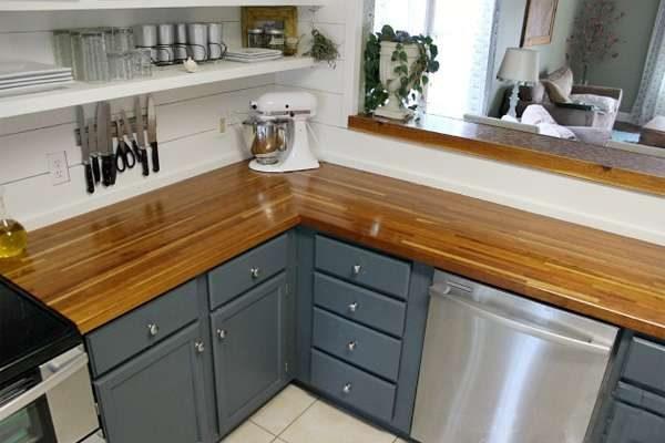 кухня своими руками с открытыми полками