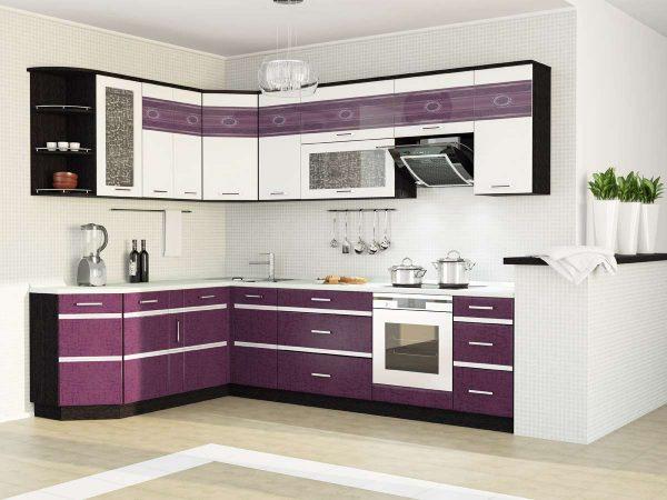 фиолетовая модульная кухня своими руками