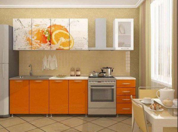 кухня своими руками с рисунком на фасадах