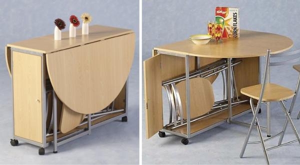 стол трансформер на маленькой кухне