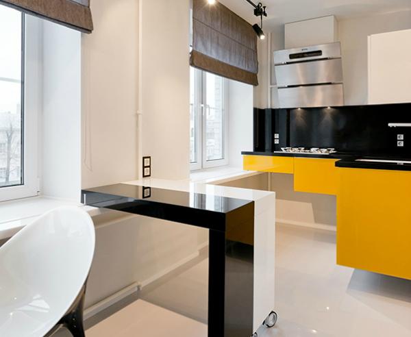 минималистический стиль на маленькой кухне
