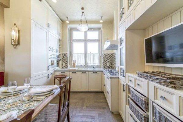 П образный гарнитур на маленькой кухне