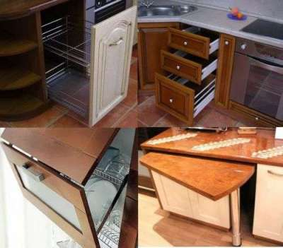 раздвижной или подъёмный механизм на маленькой кухни