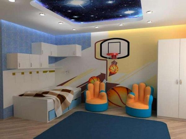 спортивные обои для детской комнаты