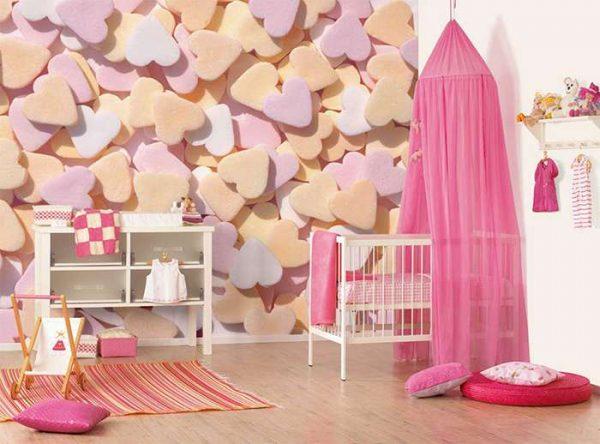 обои с печеньем для детской комнаты девочки