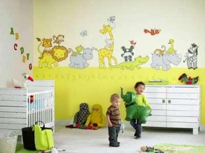 обои аппликации для детской комнаты