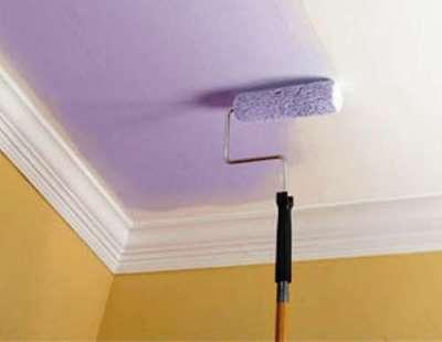 краска на потолке в прихожей