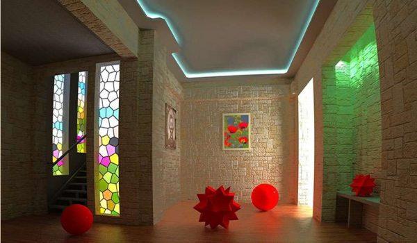 освещение прихожей частного дома