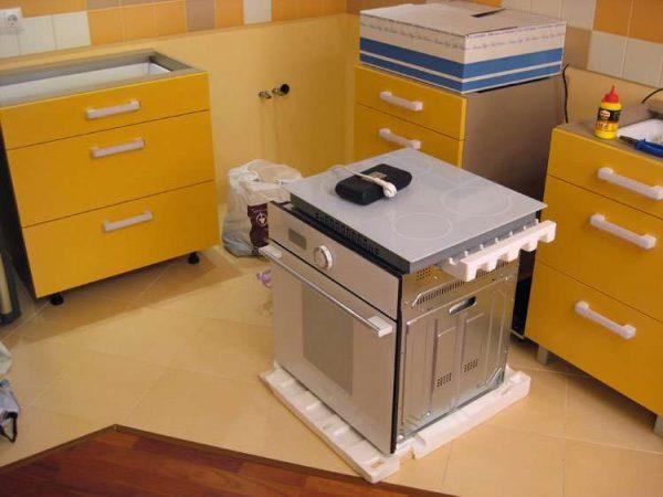 жёлтая модульная кухня своими руками
