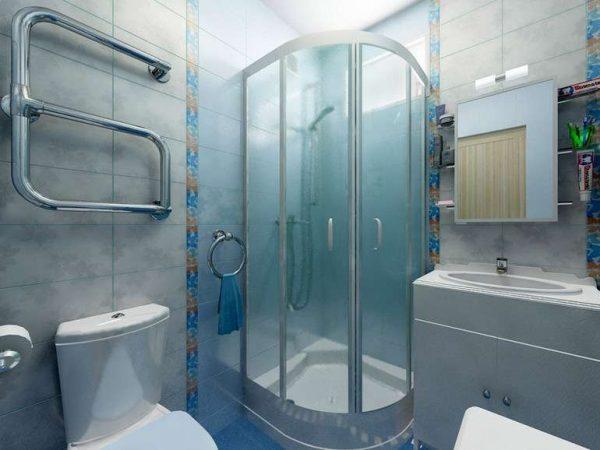 душевая кабина в ванной в хрущёвке