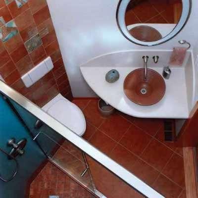 угловая раковина чаша в ванной