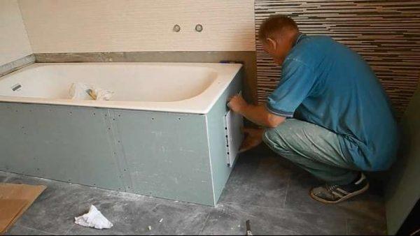 монтаж гипсокартона в ванной