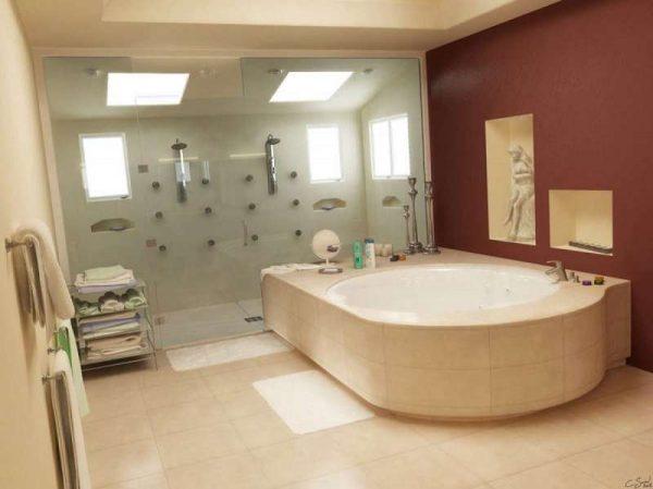 гипсокартон в интерьере ванной комнаты