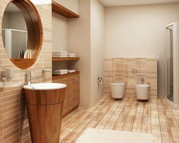 краска и плитка в интерьере ванной комнаты