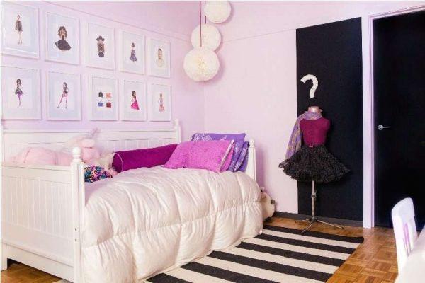 освещение у кровати в комнате девочки