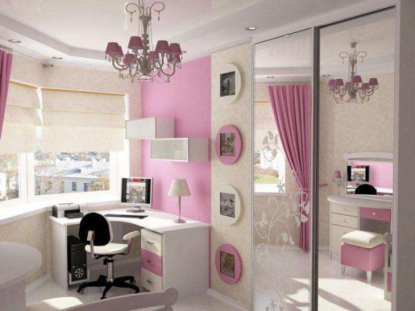 системы хранения в комнате девочки