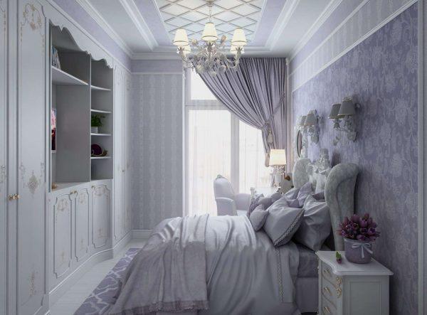 интерьер комнаты девочки со шкафом