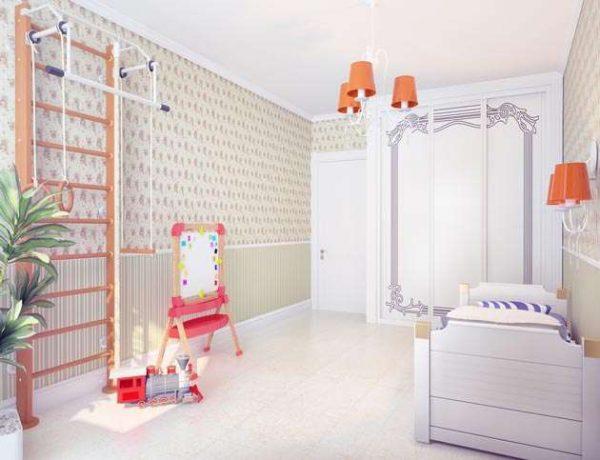 спортивный уголок в интерьере комнаты девочки