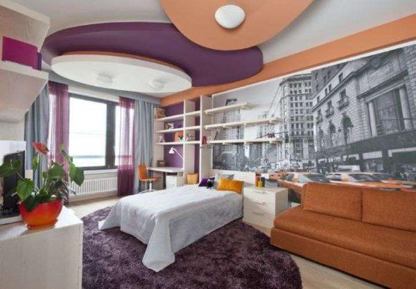 интерьер комнаты девочки в стиле нью йорк