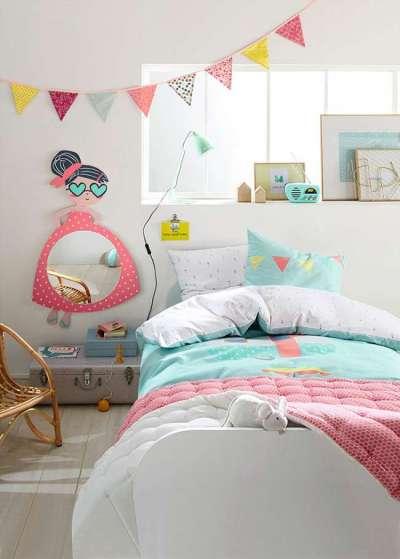стильное оформление комнаты девочки