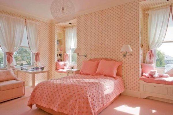 персиковый цвет в комнате девочки