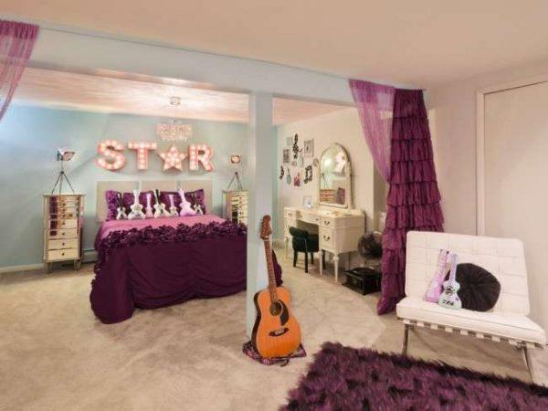 рок стиль в комнате девочки