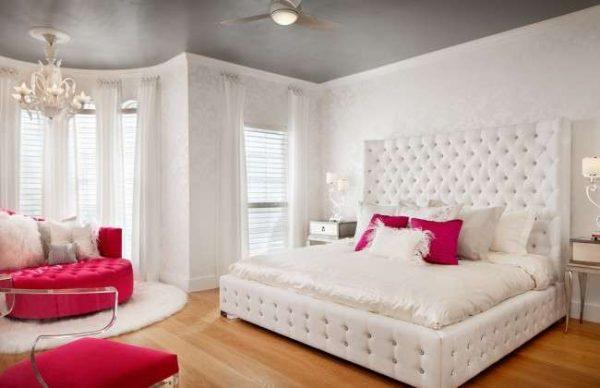 розовый и белый цвет в комнате девочки