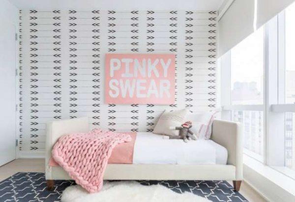 интерьер комнаты девочки в минималистическом стиле