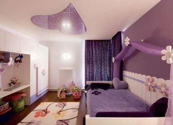 ковёр в интерьере детской комнаты девочки
