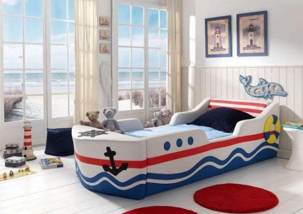 коврики в интерьере детской комнаты мальчика в морском стиле
