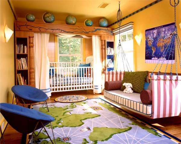 ковёр с картой мира для мальчика