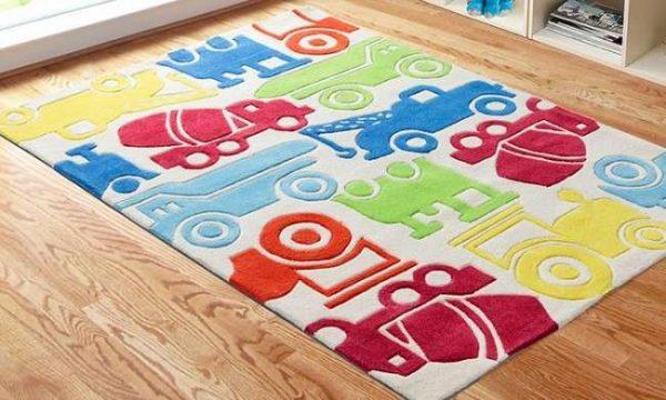 ковёр с машинками для детской комнаты