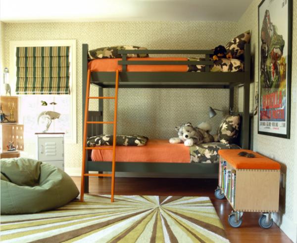 большой ковёр в интерьере детской комнаты