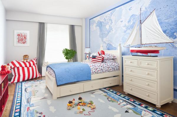 голубой ковёр для детской комнаты
