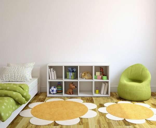 ковёр в виде цветов в детской комнате