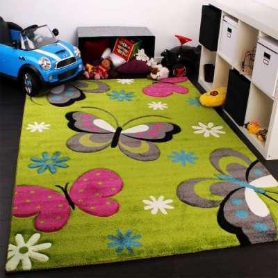 мягкий ковёр в интерьере детской комнаты