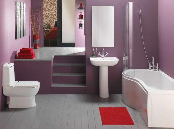 фиолетовая краска в ванной