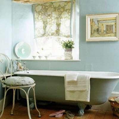 прованс в маленькой ванной комнате