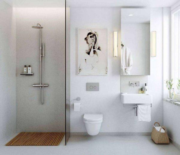 белый дизайн ванной