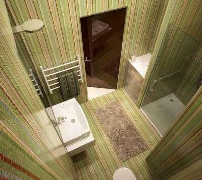 душевая кабина в интерьере небольшой ванной