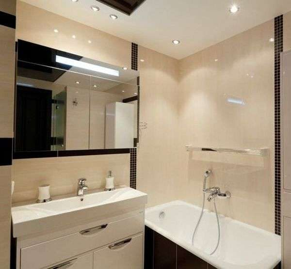 зеркало большое в маленькой ванной