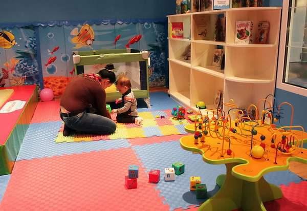 мягкий пол пазлы в интерьере детской комнаты