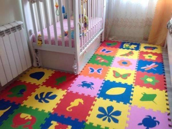 мягкие пазлы на пол в комнату новорождённого