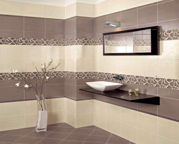 прямоугольная плитка в ванной комнате