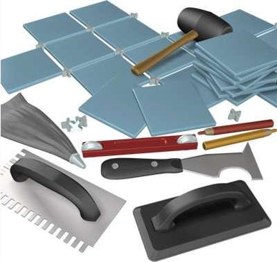 инструменты для плитки в ванной комнате