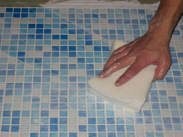 чистка плитки после затирки швов