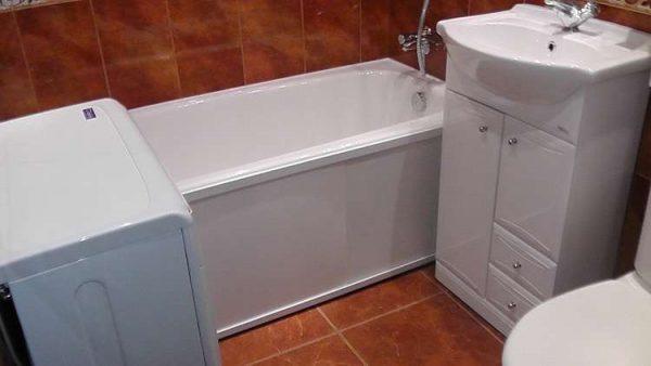коричневая плитка своими руками в ванной