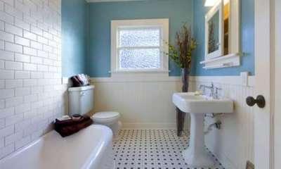 белая плитка в ванной своими руками